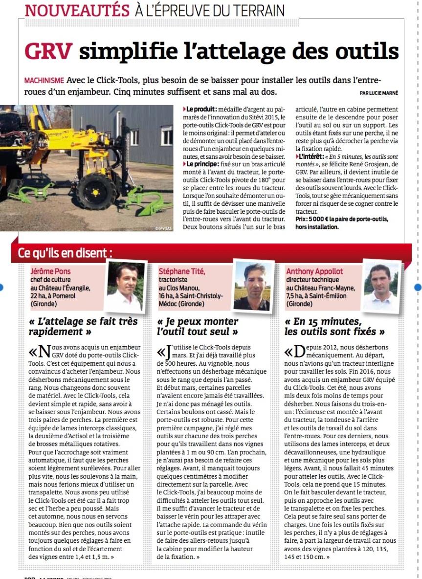 Revue de presse: 2A Viti dans «La Vigne»